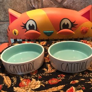 New 2020 Just In Rae Dunn Catitude! Two bowls!